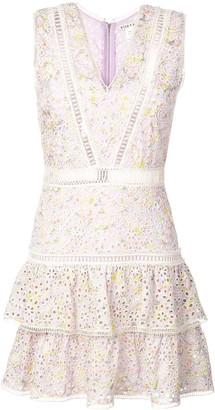 Alice + Olivia Alice+Olivia Tonie embroidered mini dress
