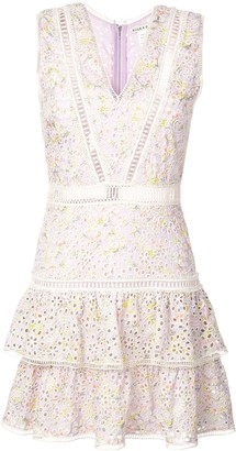Alice + Olivia Tonie embroidered mini dress