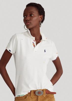 Ralph Lauren Skinny Fit Beaded Polo Shirt