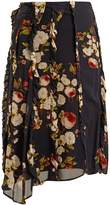 Preen Line Elaine peony-print chiffon midi skirt