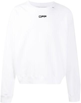 Off-White Wavy Line Logo Crew Neck Sweatshirt