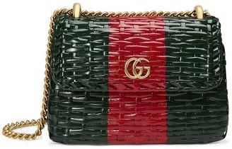 Gucci Web wicker mini shoulder bag
