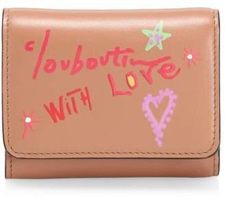 Christian Louboutin Mini Loubigaga Writing Leather Wallet
