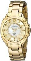 Akribos XXIV Women's AK668YG Lady Diamond Gold-Tone Bracelet Watch