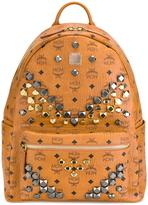 MCM studded large backpack - unisex - PVC/metal - One Size