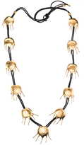 Josie Natori Gold Brass Tulip Necklace