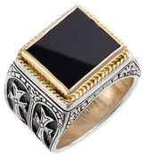 Konstantino Men's 'Minos' Side Cross Ring
