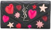 Saint Laurent large Monogram continental zip wallet - women - Calf Leather - One Size
