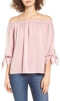Soprano Women's Tie Sleeve Off The Shoulder Top