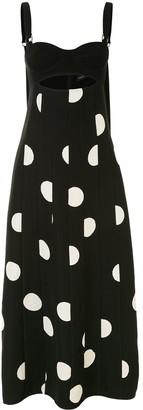 Proenza Schouler Broken Dot Print Bustier Dress