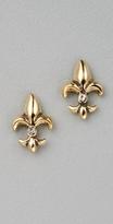 Fleur de Lis Stud Earrings