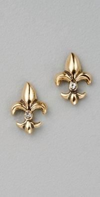 Juicy Couture Fleur de Lis Stud Earrings