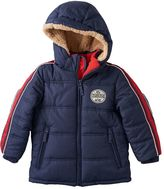 Osh Kosh Boys 4-7 Striped Hooded Heavyweight Puffer Jacket
