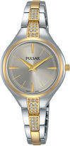 Pulsar Womens Two Tone Bracelet Watch-Pm2240