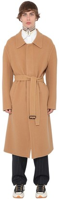 J.W.Anderson Oversize Cashmere & Cotton Coat W/ Belt