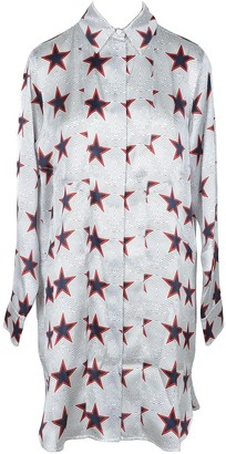 Sportmax Stars Print Pure Silk Women's Shirt Dress