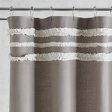 Pier 1 Imports Ruffle Trim Gray Shower Curtain