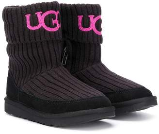 UGG ribbed knit side zip boots
