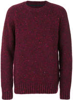 Barbour speckled crew neck jumper