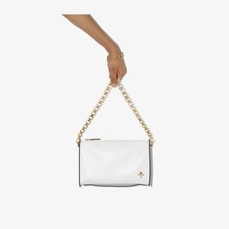 MANU Atelier white Carmen leather cross body bag