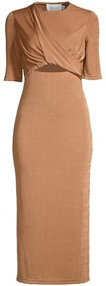 Significant Other Mila Twist-Front Midi Dress