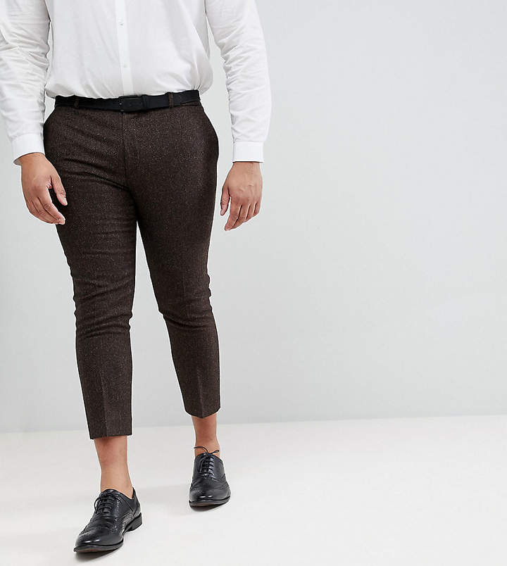 Heart N Dagger plus size skinny cropped pant in herringbone