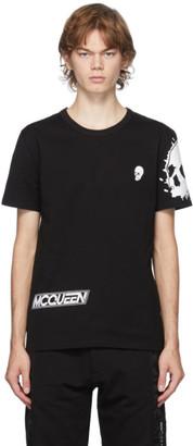 Alexander McQueen Black Motocross Skull Print T-Shirt