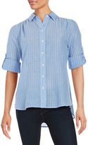 Lord & Taylor Striped Button-Front Shirt
