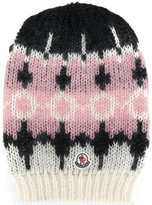 Moncler patterned beanie hat - women - Polyamide/Mohair/Wool - One Size