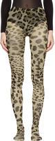 Dolce & Gabbana Multicolor Leopard Tights