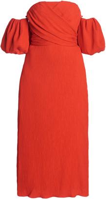 Johanna Ortiz Fine Love Convertible Textured-Crepe Midi Dress
