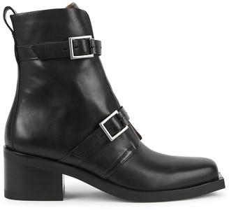 Rag & Bone Fallon 65 black leather ankle boots