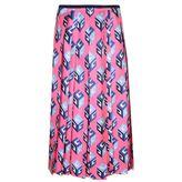 Gucci Gg Wallpaper Print Silk Skirt
