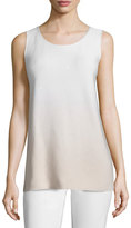 Lafayette 148 New York Round-Neck Sequined Ombre Tank, Soy/White