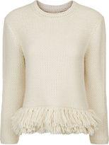 Vanessa Bruno Cream Knitted Fringe Jumper