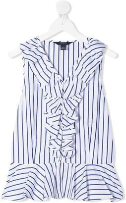 Ralph Lauren Kids TEEN striped popline top