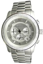 Michael Kors Micheal Kors 45mm Stainless Steel Watch with Custom Set Diamonds