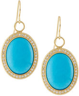 Jude Frances 18K Oval Turquoise & Diamond Earring Charms