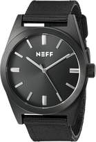 Neff Unisex NF0223BKBK Nightly Analog Display Japanese Quartz Black Watch