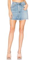 A Gold E AGOLDE Quinn High Rise Mini Skirt.