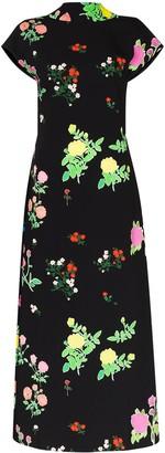 BERNADETTE Valentine floral-print midi dress
