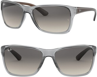 Ray-Ban 61mm Gradient Square Sunglasses