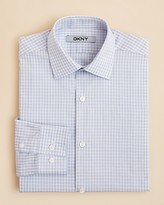 DKNY Boys' Open Check Button Down Shirt - Sizes 8-20