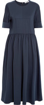Jil Sander Cotton-blend Jersey Midi Dress - Navy