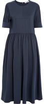 Jil Sander Cotton-blend Jersey Midi Dress - Navy