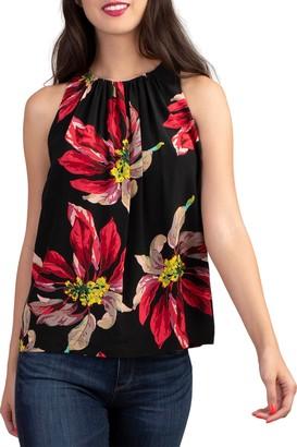 Trina Turk Cinsaut Silk Floral Top