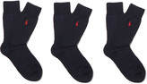 Polo Ralph Lauren - Three-pack Knitted Socks