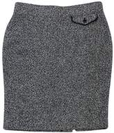 Pink Tartan Grey, Black & White Woven Skirt