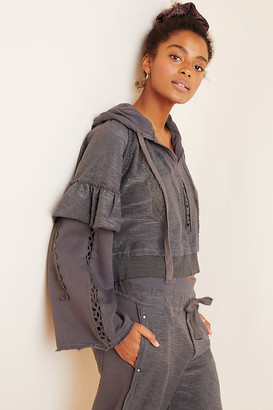 Free People Movement Heartbeat Hoodie By Movement in Grey Size XS