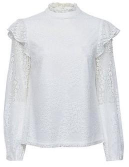 Dorothy Perkins Womens Ivory Lace Ruffle Long Sleeve Top